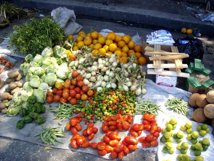hrane, predmeta, prodaju, ulici, tržište