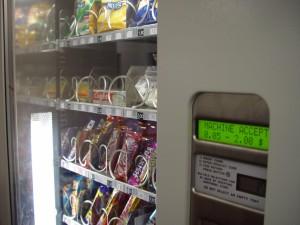 nourriture, distributeur automatique, la machine