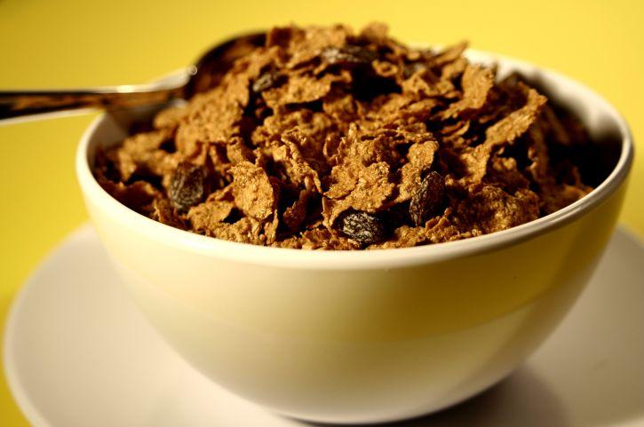 tăng cường, flake, ngũ cốc, nho khô, tập hợp, kết hợp, đĩa
