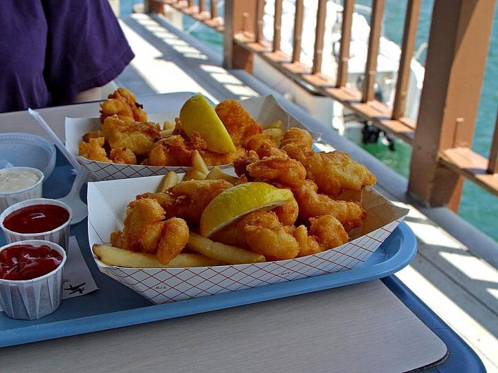 fried, fish, french, fries, fishette, harbor