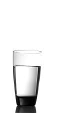 vidrio, limpia, potable, agua