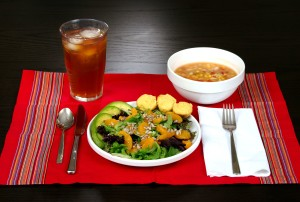 healthy, meal, nutrient, ingredients, corn, bean, soup