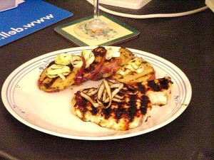 honey, lime, grilled, swordfish, garlic, potatos, grilled, leeks