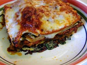 lasagna, food