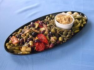 repas, ovale, plaque