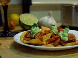nachos, limes, Paltes, chips, l'ail, les cuisines