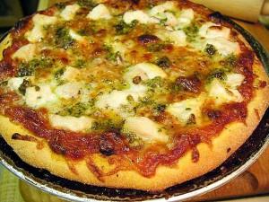 Pizza, Essen, Kochen, Huhn