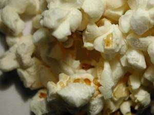 popcorn, white background