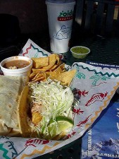 rubios, poissons, tacos, nourriture, mexicain, salsa