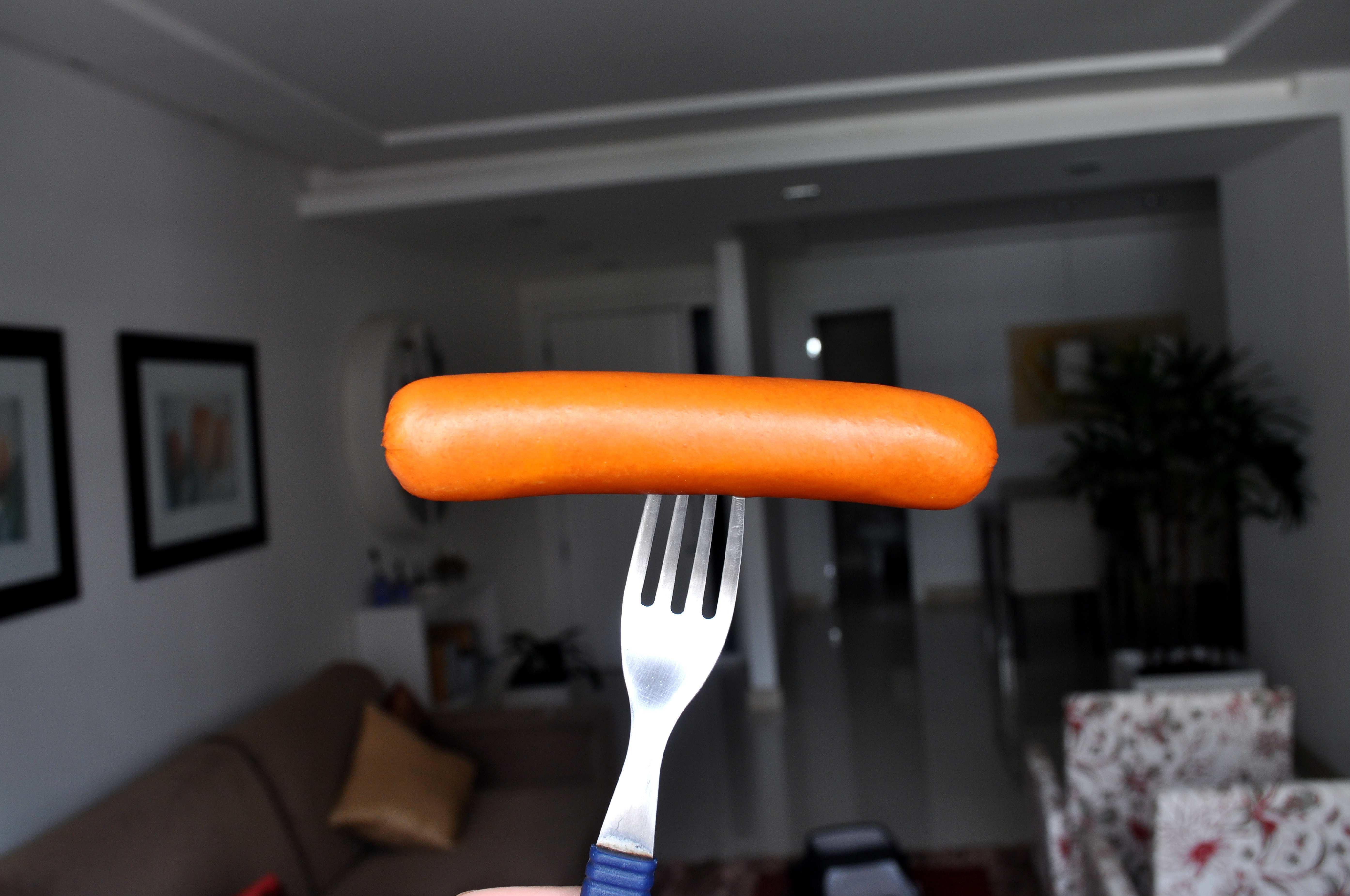 Free photograph; sausage, fork