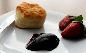 white plate, serving, fruit, strawberries