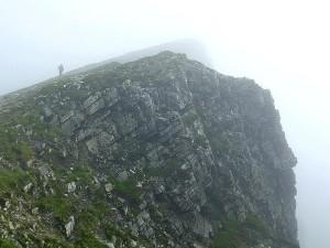 stjenovite grebene, Irska, magla, brdo