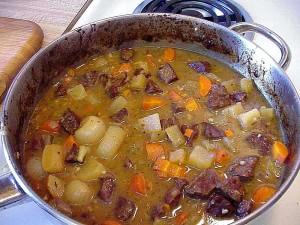 ragoût, boeuf, carottes, navets, nourriture, dîner, cuisine