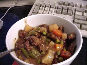 ragoût, boeuf, cuisson, dîner, nourriture