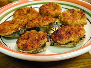 stuffed, clams, food, dinner, cooking