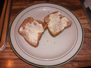 toast, buttered, food