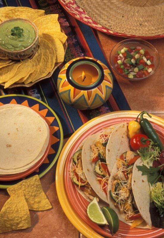 tortillas, tacos