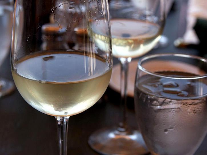 glass, white wine