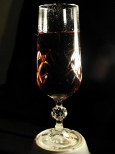Kristall, Glas, Wein, trinken, in der Nähe