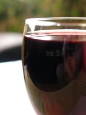 sklo, víno, blízko