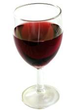 vetro, vino, sfondo bianco