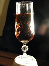 vetro, rosso, vino