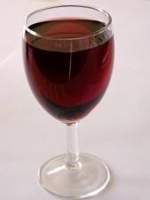 rosso, vino, vetro