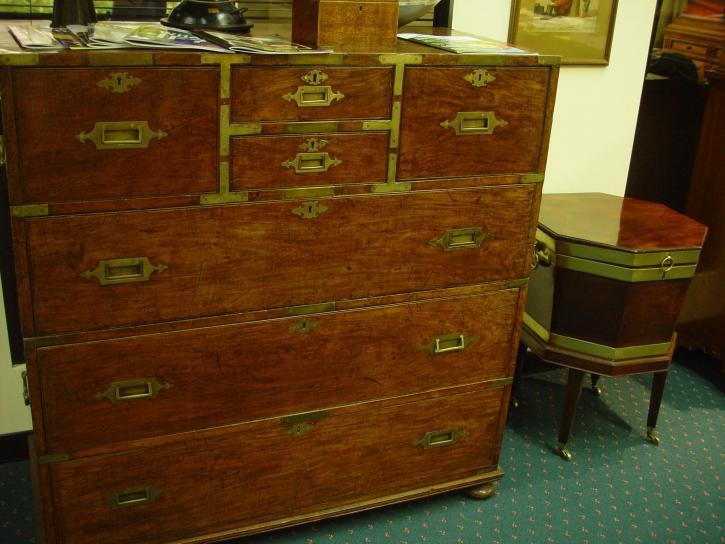 starožitný, hrudníku, zásuvky, osmiboká, tabulka