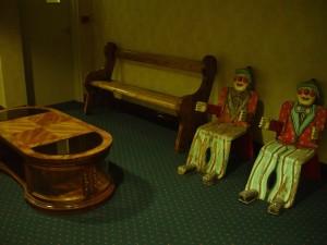 starinski, prikaz, stol, garnitura