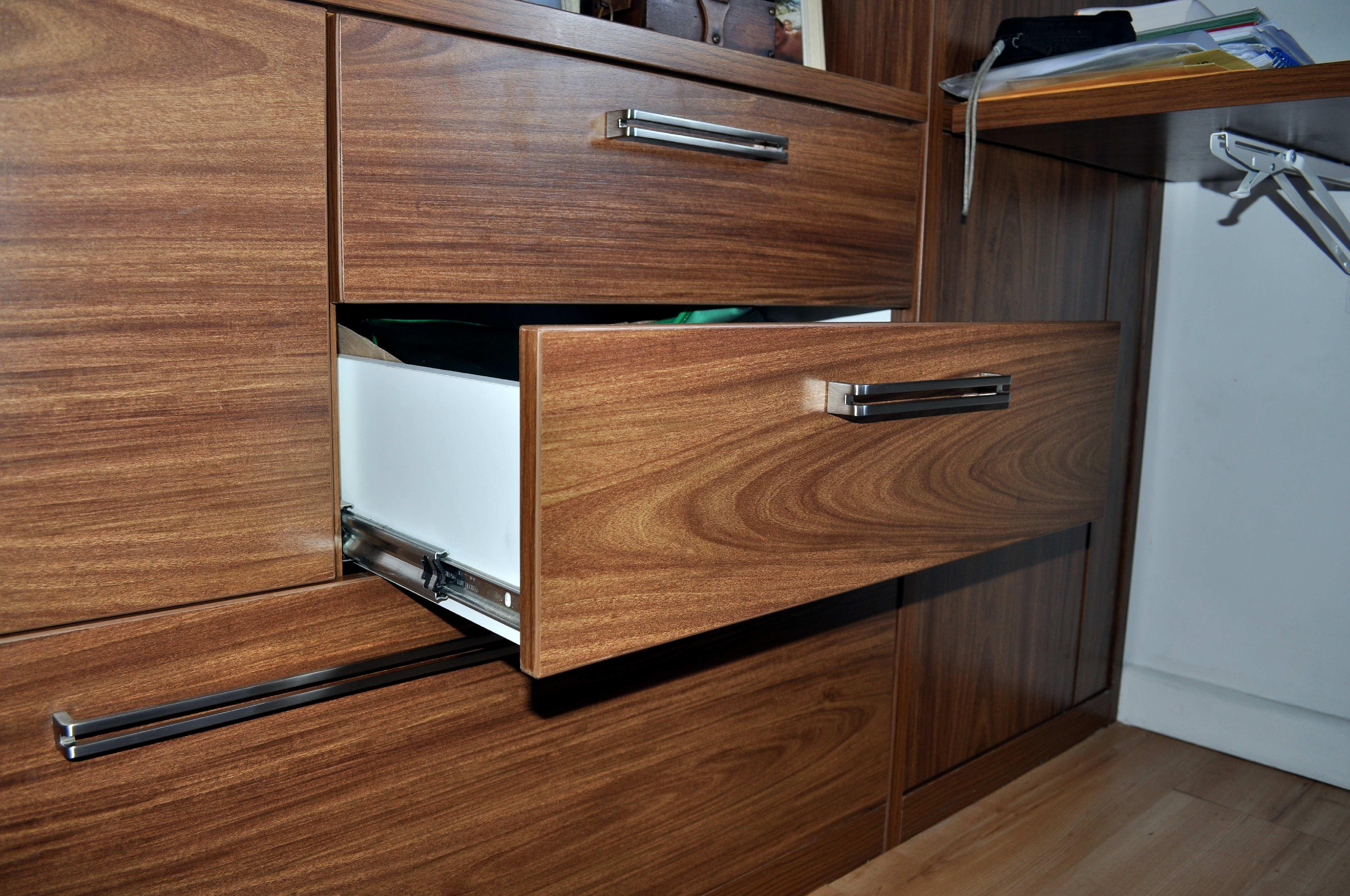 Free photograph; drawer, brown, desk
