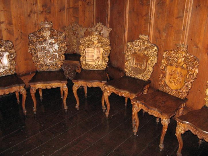 engraved, chairs