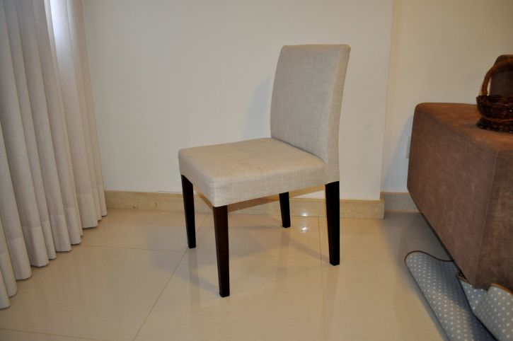 modern, white, armchair, black, legs