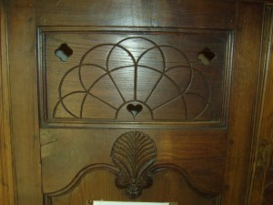 old, wood, furniture, carving