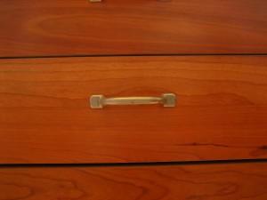 rood, houten, meubilair, handle, lade