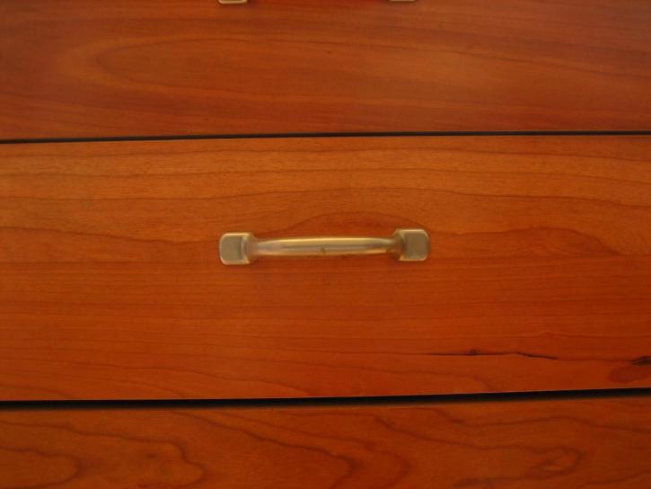 rouge, bois, meubles, poignée, tiroir