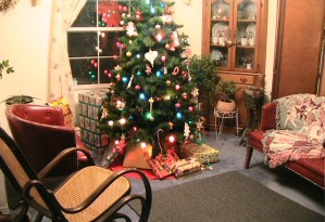 Christmas, room, interior, decoration