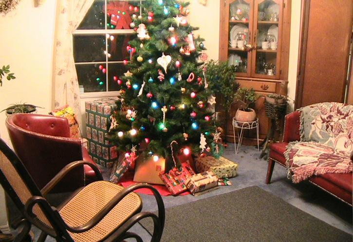 Noël, salle, intérieur, décoration