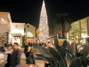 Christmas trees, orniments, malls