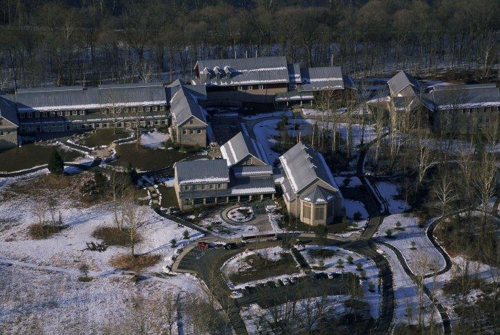 aerial, campus, buildings