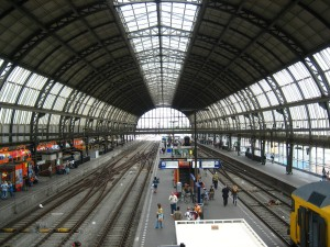 Amsterdam, principale, treno, stazione