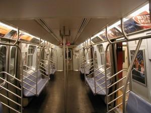 vide, train, intérieur
