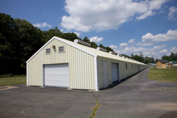 exterior, hangar, building