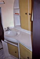 salle de bain, évier, mobile, quarantaine, installation, simulé, médical, la quarantaine, l'exercice
