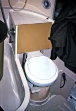 salle de bains, WC, mobile, quarantaine, installation