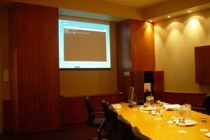 boardroom, projector, display