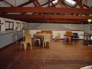 Камерън, хол, таванско помещение, експонирани, греди, университет, Западна, Австралия
