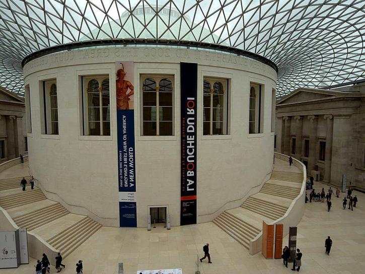 centre, cour, britannique, musée, Londres, Angleterre