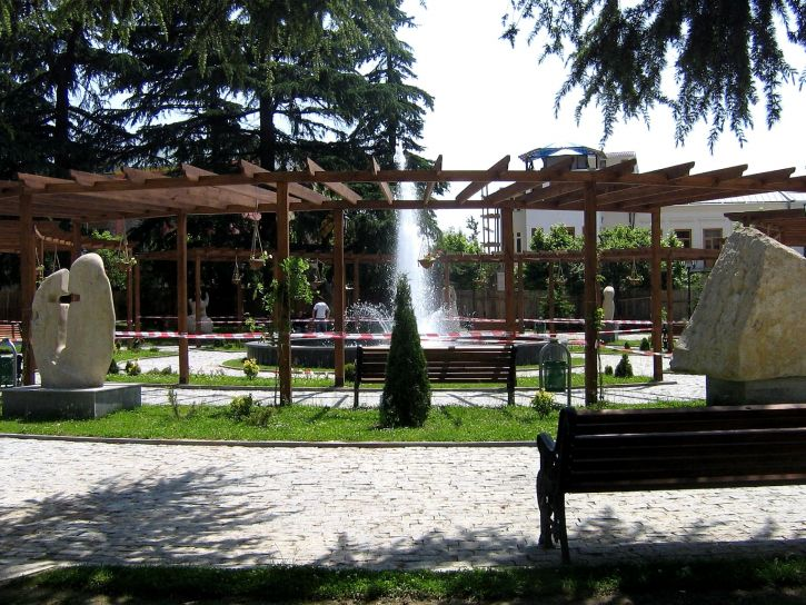grad, Gruzija, pokazuje, pogodnosti, prijenos, nekretnine, lokalne, općine, Gabashvili, park