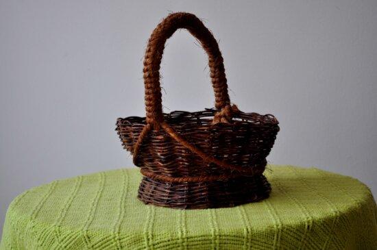 decorative, baskets, woven, wicker, handicrafts