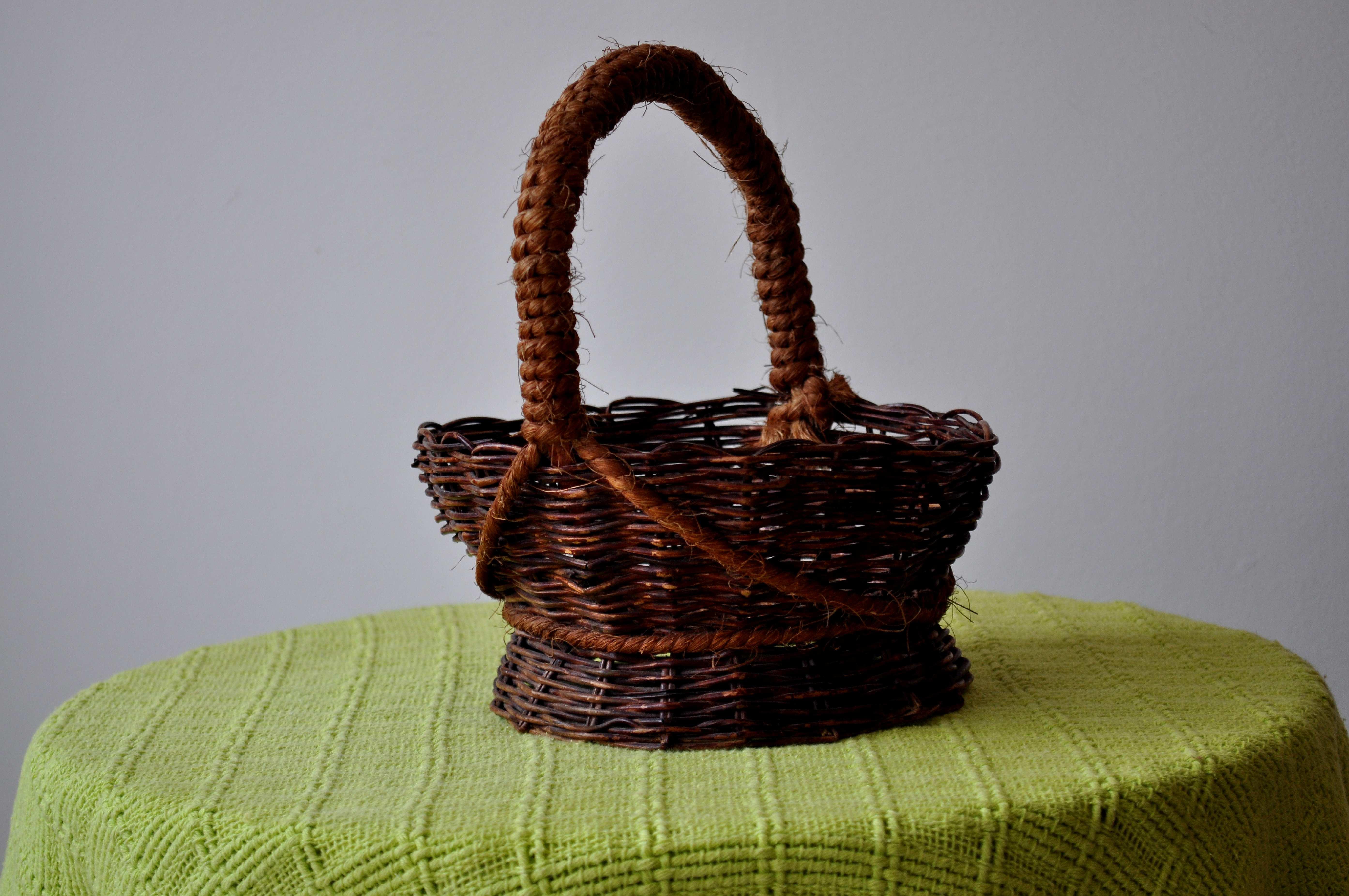Free photograph; decorative, baskets, woven, wicker, handicrafts